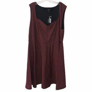 NWT Torrid Red Dot Skater Dress 3X